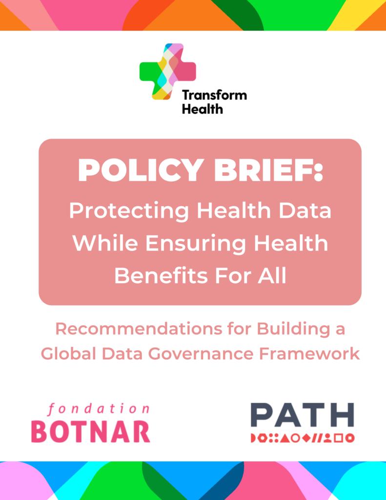 health data governance policy brief